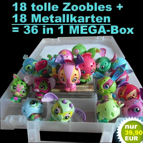 Bakugan Zoobles Mega Set 18 Figuren u. 18 Metallkarten