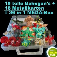 Bakugan Battle Brawlers Mega Set 18 Figuren in BOX *NEU