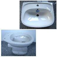Special KERAMAG bathroom set washbasin 55cm + WC in white