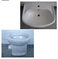 Special SPHINX bathroom set washbasin 60cm + WC in White